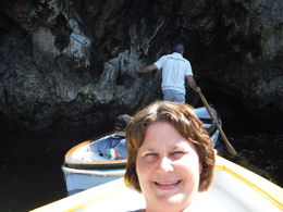 On the way into the Blue Grotto..duck down and don't hit your head , Lorrie K - June 2015