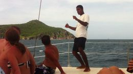 Catamaran Party Cruise to Nevis from St. Kitts - October 2011