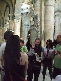Our guide vividly describes how the scenery was used in Angels & Demons. - October 2009