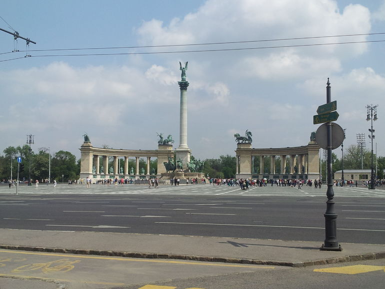 Front of Heroes Square! - Budapest