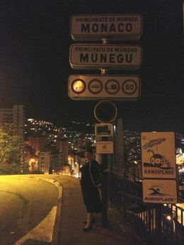 Standing in France and Monaco at the same time , Carrie D - October 2012