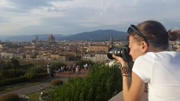 This is the view from Piazzale Michelangelo! , Daniel F - September 2015