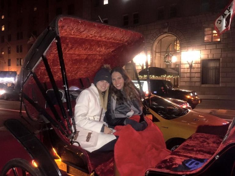 A friend and I enjoying our central park carriage ride