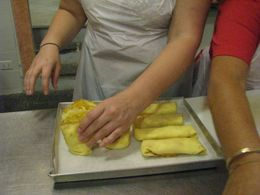 Photo of Florence Tuscan Cooking Class and Dinner in Florence Our beautiful crepes