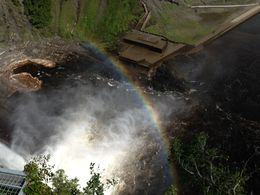 Photo of Quebec City Half-Day Trip to Montmorency Falls and Ste-Anne-de-Beaupré from Quebec Rainbow from Top of Falls