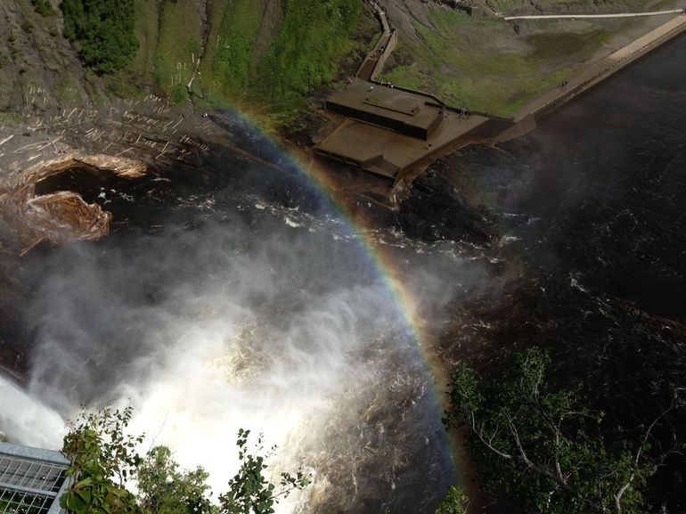 Rainbow from Top of Falls - Quebec City