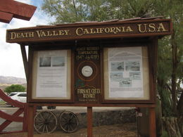 Photo of Las Vegas Death Valley Explorer Tour by Tour Trekker Sign at Furnace Creek Resort