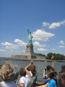 Photo of New York City Circle Line: Beast Speedboat Ride Statue of Liberty - close up.