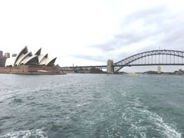 Pic of Harbour Bridge and the Sydney Opera House taken during our lunchtime harbour cruise. , robert h - April 2015