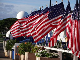 Photo of   USS Missouri - Flags