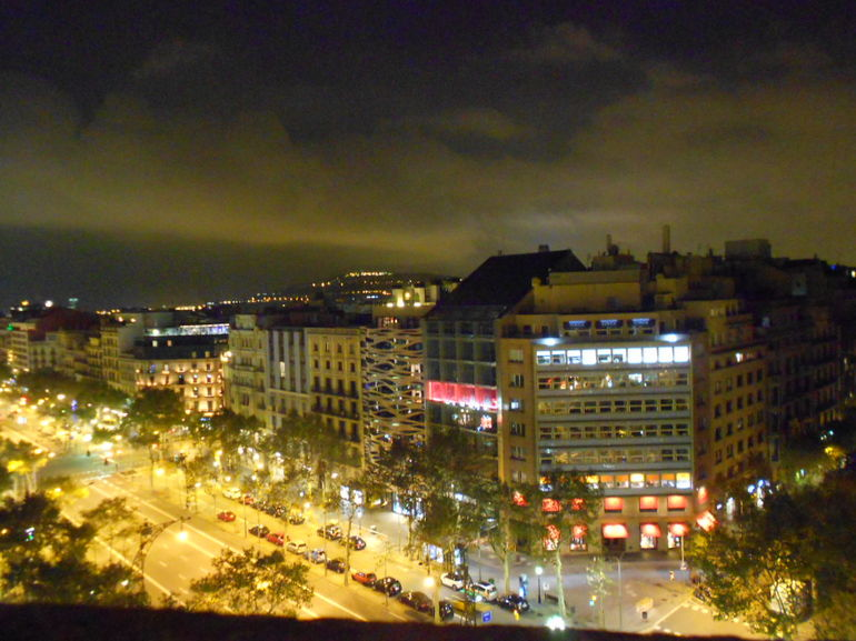 Barcelona by night from the rooftop - Barcelona