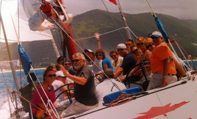 Crew on the 12 Metre Challenge - St Maarten