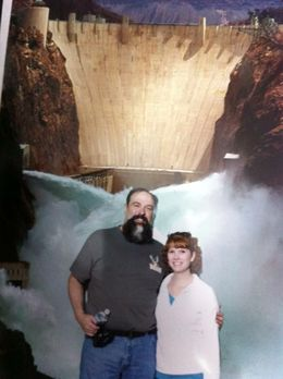 My wife and I in one of the available pictures at the dam. , JWThomas - March 2013