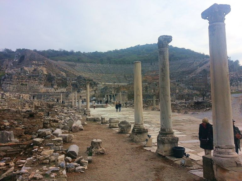 Ephesus Road in to Theatre - Izmir