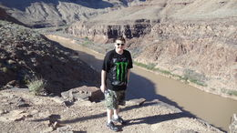 Photo of Las Vegas Grand Canyon Helicopter Tour from Las Vegas Grandson Mike at landing site bottom of Canyon.