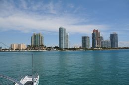South end of Miami Beach. Taken from Biscayne Bay, facing east., Jeffrey S - March 2010