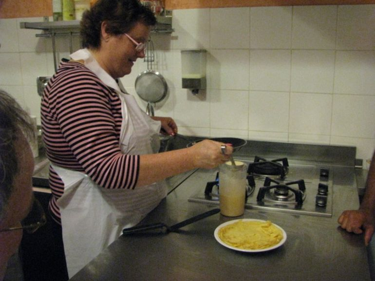 Mom making her crepe - Florence