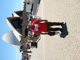 in front of the most iconic structure in Australia , wan syahman w - December 2014