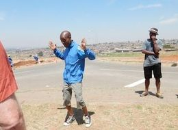 Our guide showing us how music and dance helped shape Soweto , Lori S - October 2014