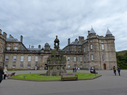 The front of the Palace of Holyrood House , Amy - August 2013