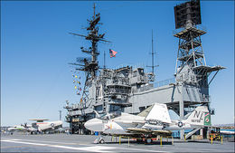 View of flight deck, aircraft and Island structure. , Reno D - May 2013