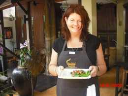 Photo of Bangkok Baipai Thai Cooking School Class in Bangkok Vicki Shows Us Her Yummy Beef Dish