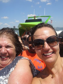 Photo of New York City Circle Line: Beast Speedboat Ride A tad damp after a sharp right turn on The Hudson!