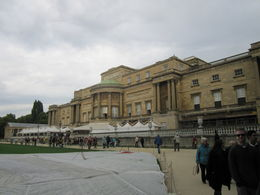 Back view of Buckingham Palace and the gorgeous gardens , Mel - November 2013