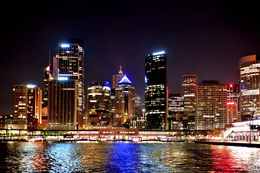 City lights and shimmering reflections , Howard M - September 2013
