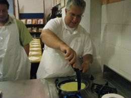 Photo of Florence Tuscan Cooking Class and Dinner in Florence Dad making his crepe