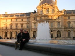 out front at the Louvre , Christine P - January 2012