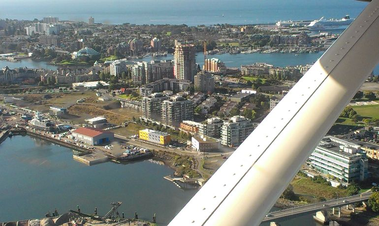 Flying into Victoria, Vancouver Island