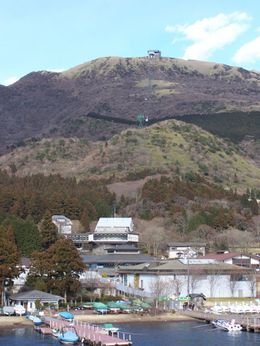 Photo of Tokyo Mt Fuji, Lake Ashi and Bullet Train Day Trip from Tokyo Looking to cable car for Lake Ashi