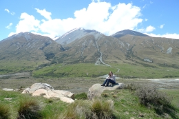 Lord of the Rings - Journey to Edoras from Christchurch After posing for pictures with lookalike movie props, we climbed the hill where Rohan was built! This is me sitting where the Golden Hall..., Jaclyn S - November 2010
