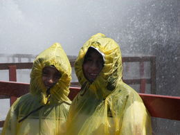 Photo of   Sons taking shower on Hurricane Deck