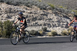 Photo of Las Vegas Guided or Self-Guided Road Bike Tour of Red Rock Canyon Sprint finish at Red Rock Canyon