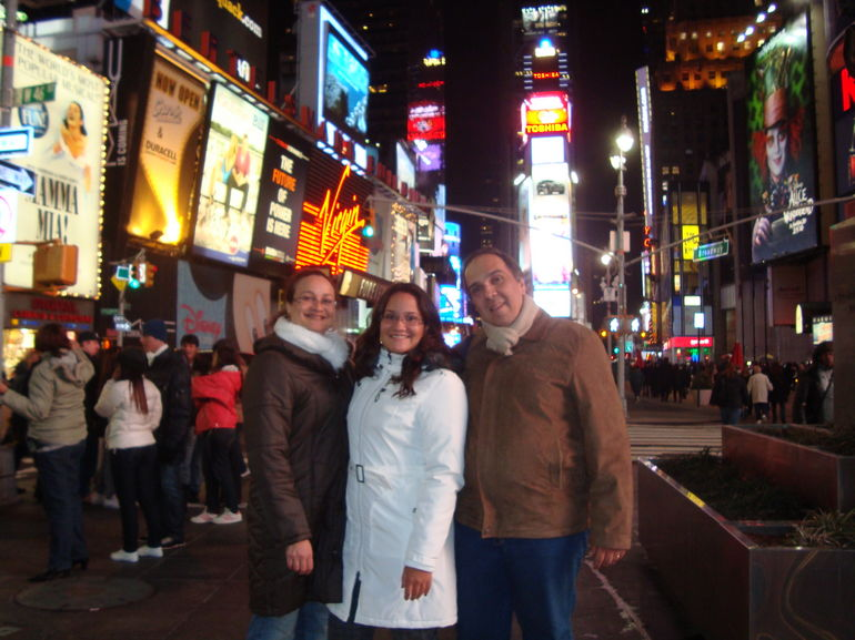 Times Square full of lights -