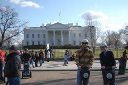 Posing in front of the White House. - March 2010