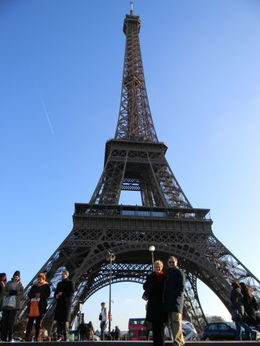 First visit to the Eiffel Tower , Christine P - January 2012