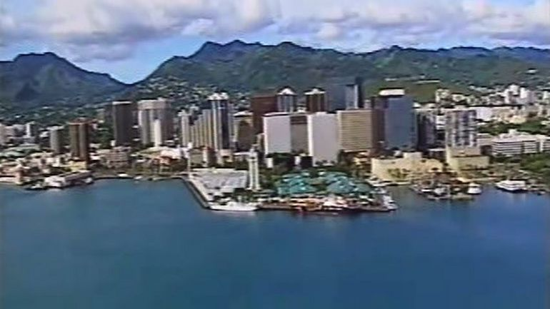 Honolulu from a Helicopter - Oahu