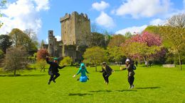 Our jumping family picture at Blarney Castle , JumpingNorman - May 2014