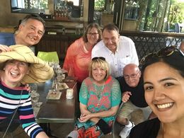 Our entire group after dessert and Rum! , Laurice O - February 2016