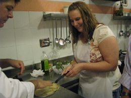 Photo of Florence Tuscan Cooking Class and Dinner in Florence Making crepes