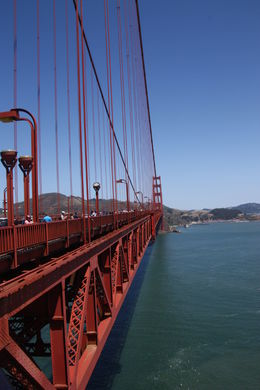 Biking the Golden Gate bridge one spectacular sunny San Francisco day , Dianne J - August 2014