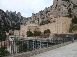 Montserrat Monastery built into the rocks. , Paris4me - April 2013