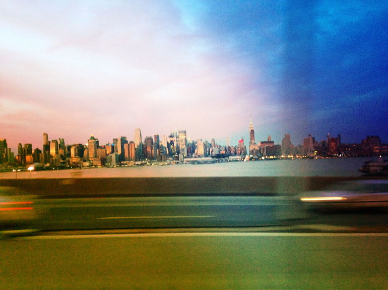 On the bus back to manhattan - New York City