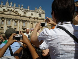 This is how close we were to the Pope. , CATHERINE L - July 2013