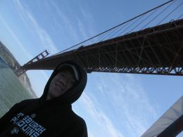 Picture of Rusty as we are sailing under the Golden Gate Bridge., Diana B - June 2008