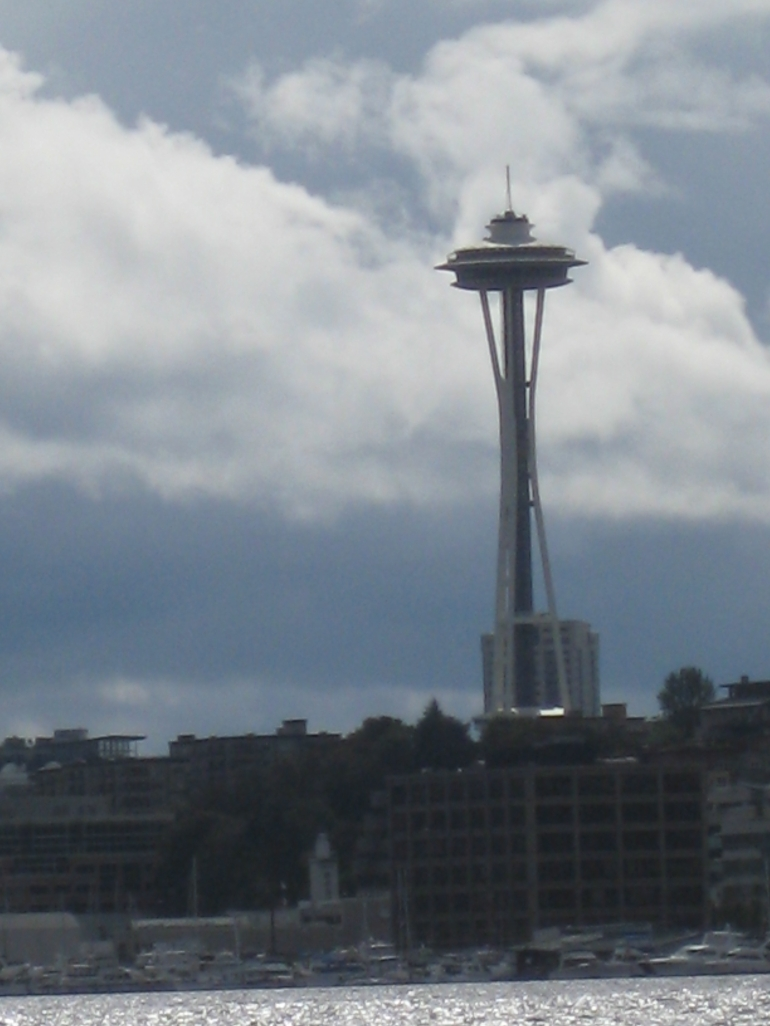 Space Needle from the water - Seattle