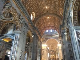 Inside the beautiful St. Peter's Basilica , Michael C - November 2015